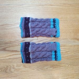🎃🌠Beautiful wool fingerless gloves, lined